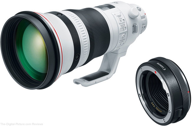 Canon EF 400mm f/2.8L IS III USM & Control Ring Mount Adapter EF-EOS R In Stock at B&H