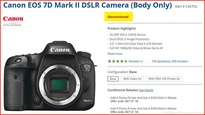 Canon EOS 7D Mark II Discontinued
