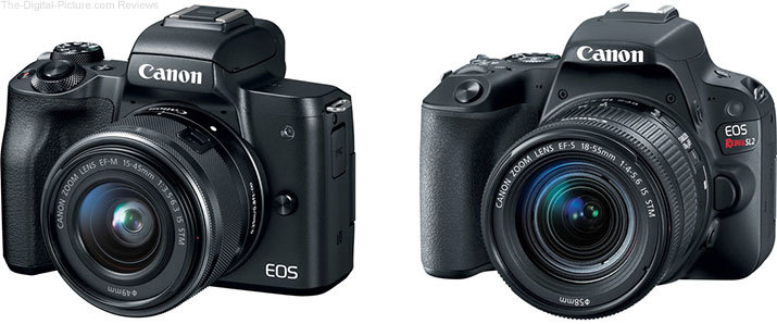 Should I Get the Canon EOS M50 or the EOS Rebel SL2/200D?