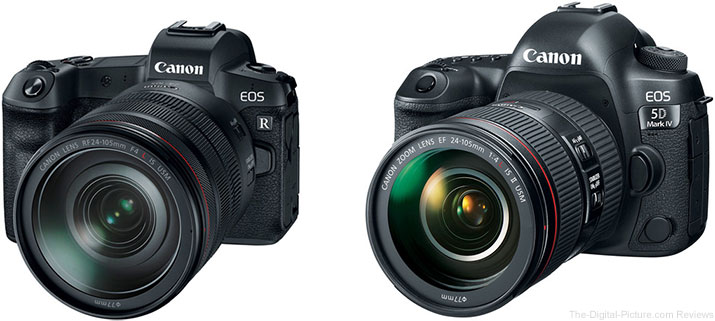 Should I Get the Canon EOS R or the Canon EOS 5D Mark IV?