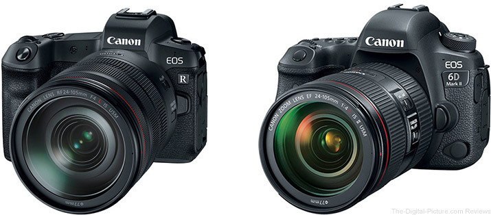 Should I Get the Canon EOS R or the Canon EOS 6D Mark II?