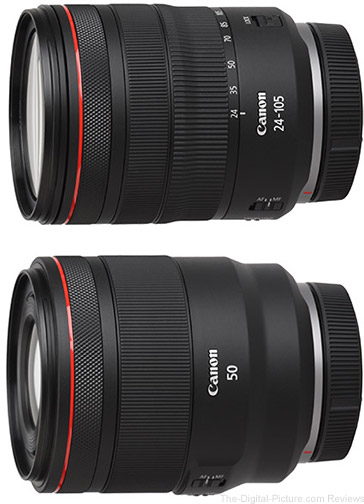 Canon RF 24-105mm f/4L IS and RF 50mm f/1.2L Standard Product Images Added