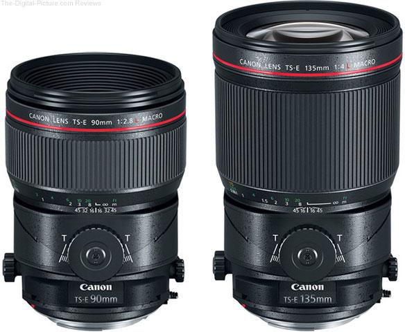 Canon TS-E 90mm f/2.8L & TS-E 135mm f/4L In Stock at B&H