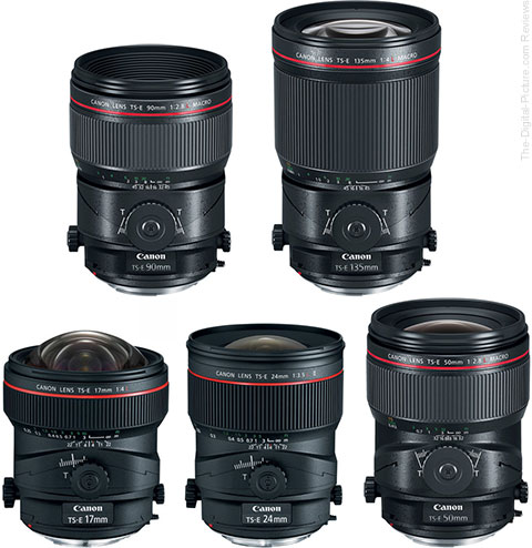 Canon L-Series Tilt-Shift Lenses