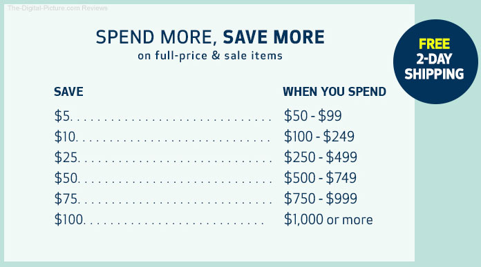 Canon USA Spend More Save More Summer 2018 Sale