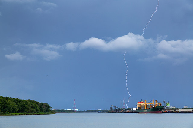 Lightning Over the Savannah River - July, 2018