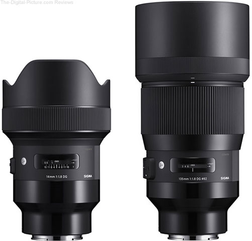 Sigma 14mm and 135mm f/1.8 Art ??Lenses for Sony E