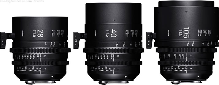 Sigma Adds Three New Lenses to Its Cine Lens Lineup