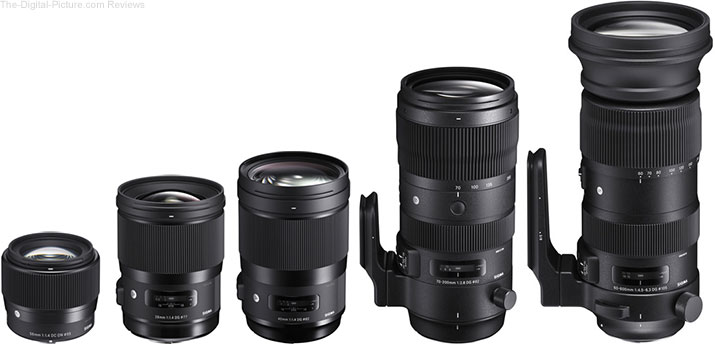 Sigma Unveils Five New Global Vision Lenses