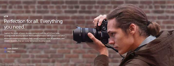 Sony a7 III banner image