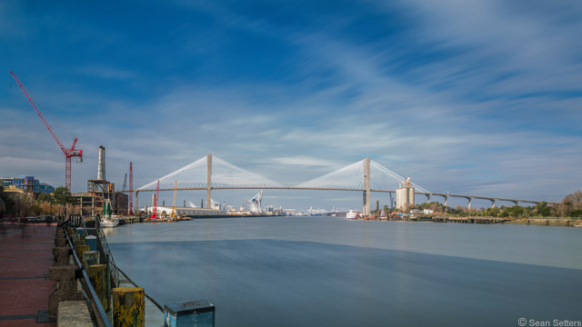 Talmadge Bridge Photographed from River Street with 10 stop ND Filter