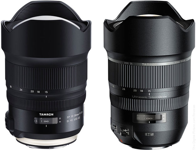 Tamron SP 15-30mm F/2.8 Di VC USD G2 and G1 Lenses