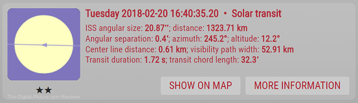 ISS Transit Finder Website Screenshot