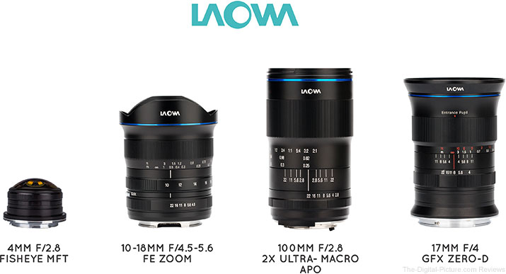 Venus Optics Announces 4 New Laowa Lenses