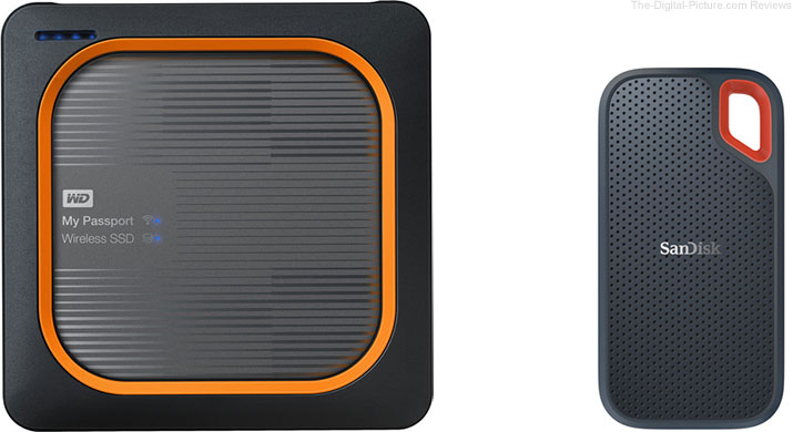 WD My Passport Wireless SSD & SanDisk Extreme Portable SSD Drives