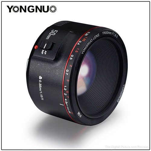 YONGNUO Set to Release YN50mm f/1.8 II Lens