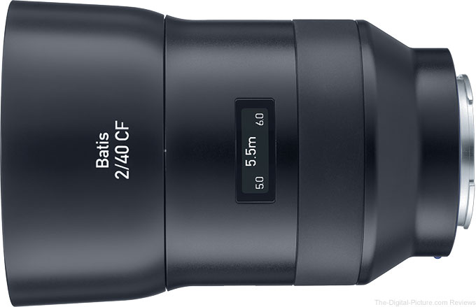 ZEISS Announces Batis 40mm f/2 CF (Close Focus) Lens for Sony