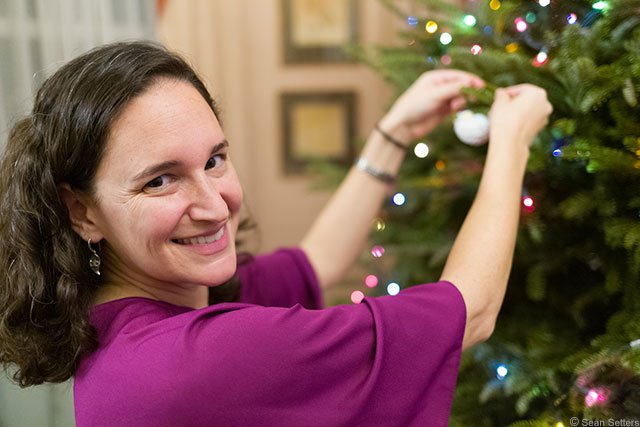 Alexis Decorating the Tree