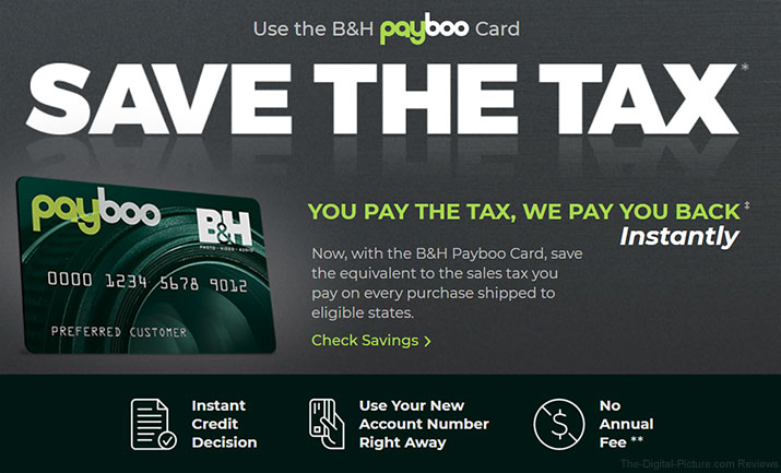 Let B&H's Payboo Card Pay the Sales Tax