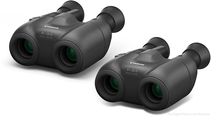Canon 8x20 IS and 10x20 IS Binoculars