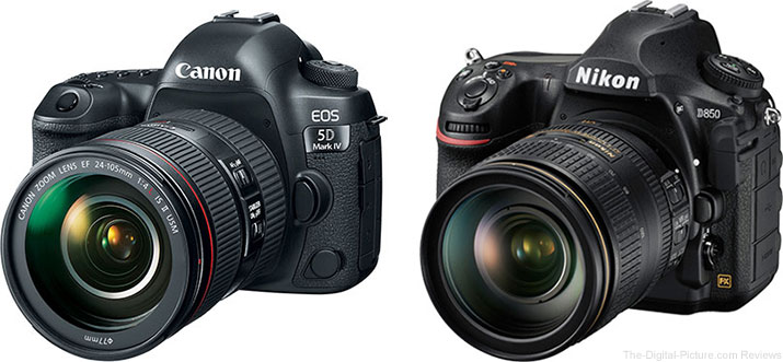 Should I Get the Canon EOS 5D Mark IV or the Nikon D850?