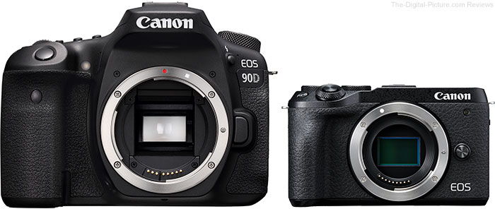 Canon EOS 90D DSLR and M6 Mark II Mirrorless ILC Cameras