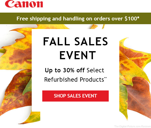 Canon Store Fall Savings Event