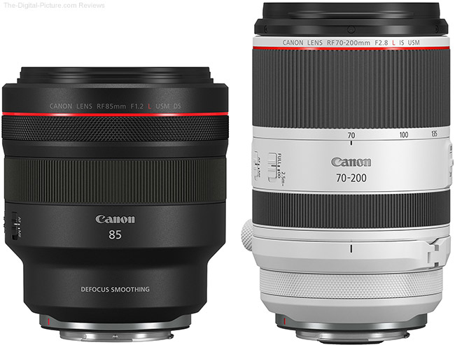 Canon RF 70-200mm F2.8L IS USM and RF 85mm F1.2L USM DS Lenses