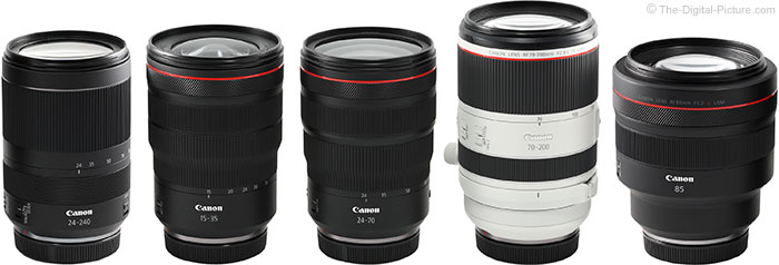 Canon RF Lenses New for 2019
