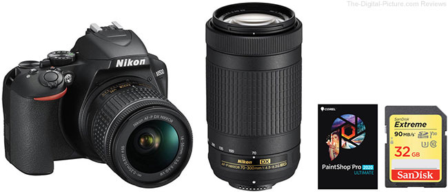 Nikon D3500 DSLR Camera with 18-55mm and 70-300mm Lenses and Accessories Kit
