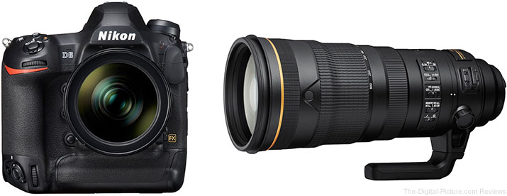 Nikon D6 DSLR Camera and AF-S NIKKOR 120-300mm f/2.8E FL ED SR VR Lens