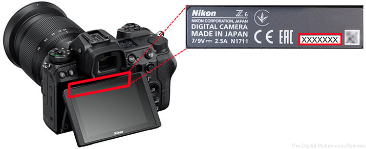 Nikon Z 7 Z 6 Serial Number Location