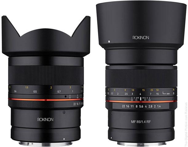 Rokinon 14mm f/2.8, 85mm f/1.4 for Canon RF In Stock at B&H