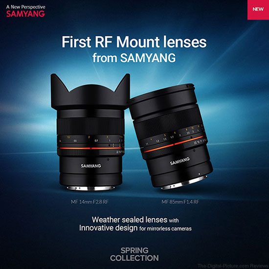 Samyang Introduces MF 14mm F2.8 RF & MF 85mm F1.4 RF Lenses