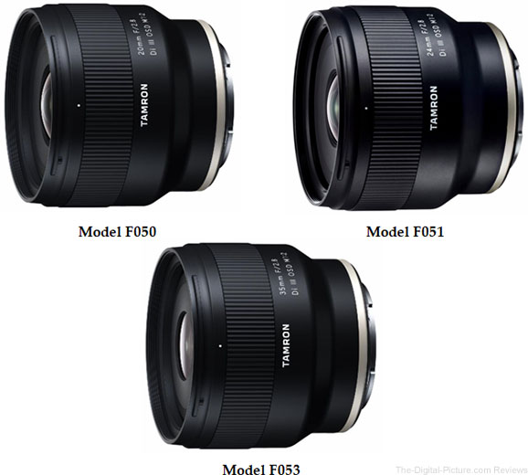 Tamron Announces Three Close-Focusing Prime Lenses For Sony E-Mount