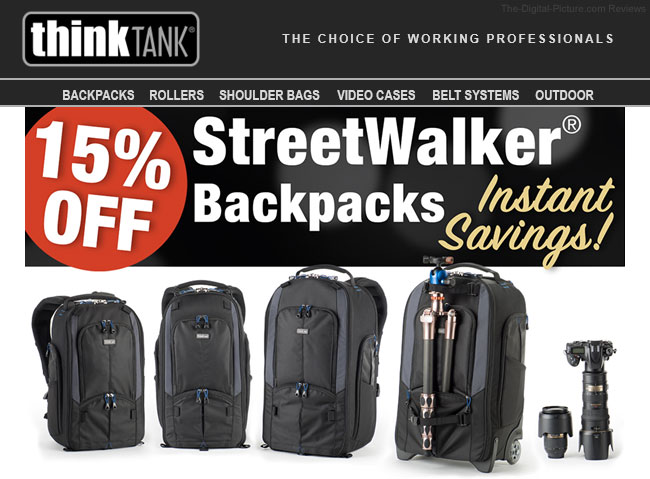 Think Thank Photo StreetWalker Backpack Sale