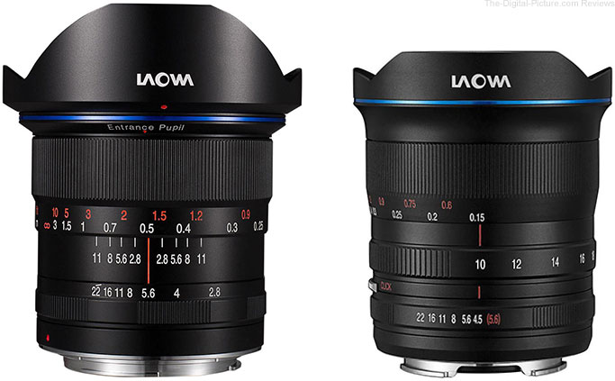Venus Optics Releases Laowa 15mm f/2 Zero-D in RF/Z-Mounts and 10-18mm f/4.5-5.6 for Nikon Z