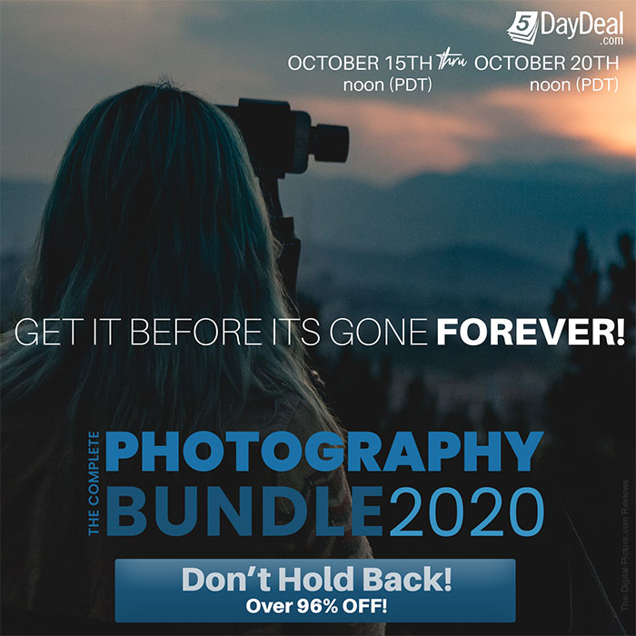 Reminder: The 5DayDeal Complete Photography Bundle for 2020 is Now Live! SmugMug Membership Included*