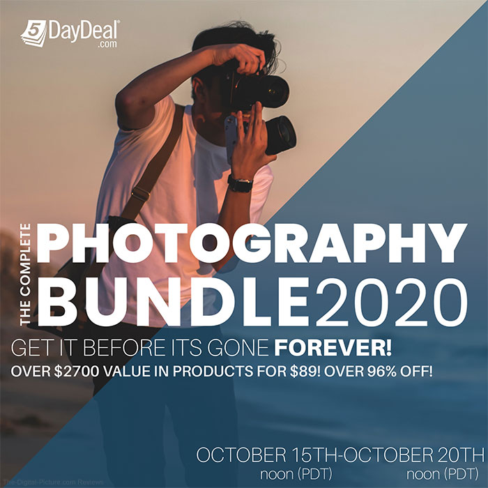 Extended 8 Hours: The 5DayDeal Complete Photography Bundle for 2020