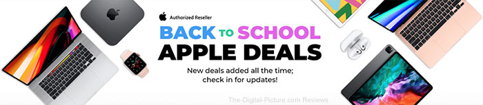 Big Apple Back to School Sale at B&H, Deals of the Week