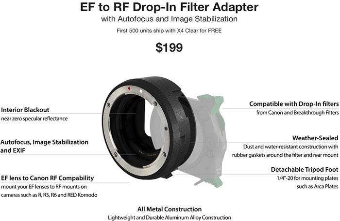 Breakthrough EF to RF Drop-In Filter Adapter