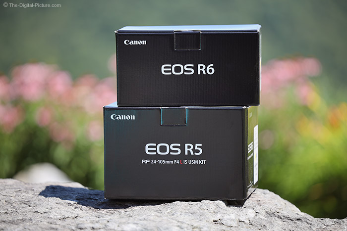 Canon EOS R5 and R6 Boxes
