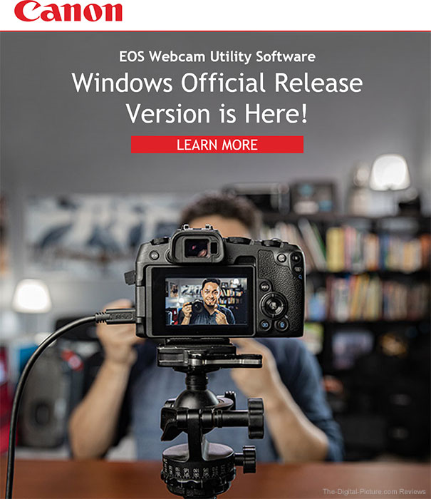 Canon EOS Webcam Utility Software Windows Official Release