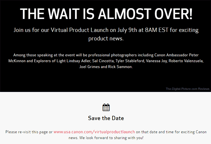 Canon Virtual Product Launch