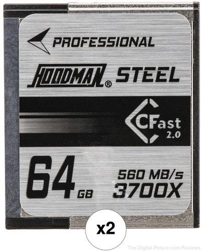 Hoodman 64GB HCFAST Steel Memory Card Kit (2-Pack)