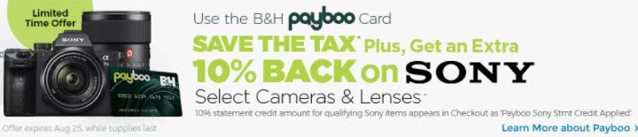B&H Payboo Sony Special