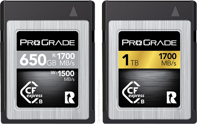 ProGrade Digital CFexpress Type B Cobalt and Gold Memory Cards