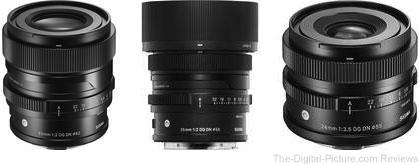 Sigma Full-Frame Mirrorless I series Premium Compact Prime Lenses