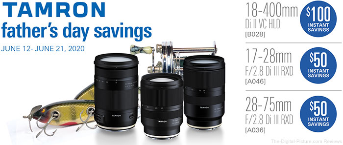 Tamron Father's Day Specials