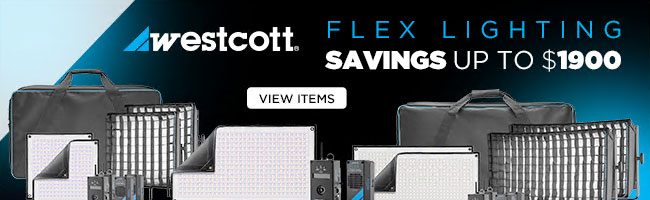 Westcott Flex Cine Lighting Deals at B&H – Save $250.00 - $1,900.00